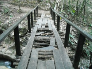 Now there's a rickety bridge...