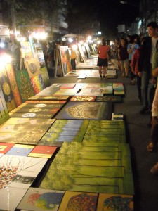 Some art work back in Chiang Mai at the Night Bazaar
