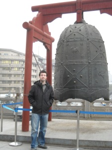 Me...next to a big bell...