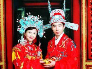 This guy will get a Xiao San in five years when he looks back and sees what his bride made him wear...