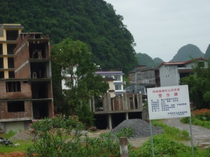 Landslides in the area cleared these small villages out not long ago...